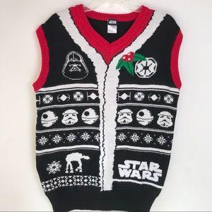 Star Wars Ugly Christmas Sweater Vest Men's M